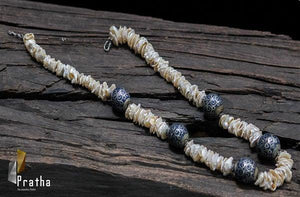 Mother of pearl & silver Mala