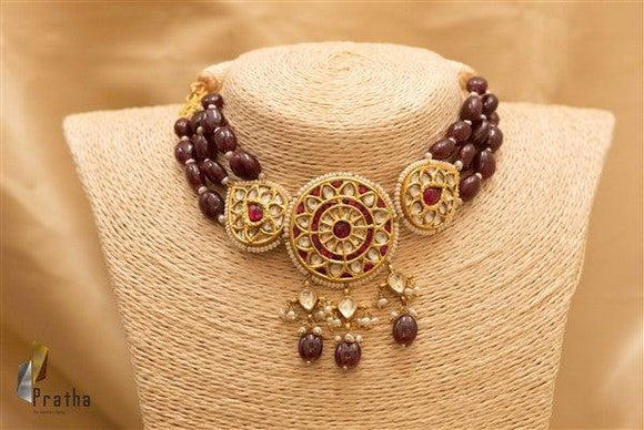Kundan Choker Ruby Necklace Set