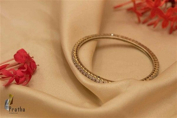 Single line Diamond Bangle