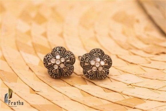 Marcasite Mother of Pearl Studds