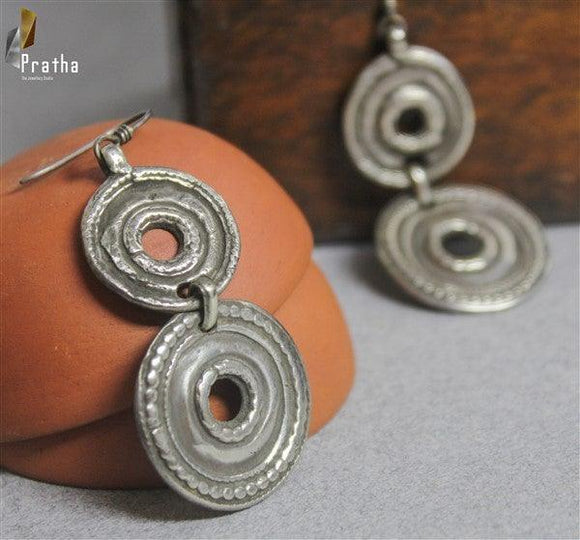 ethnic earrings handcrafted in sterling silver, perfect piece for everyday requirement