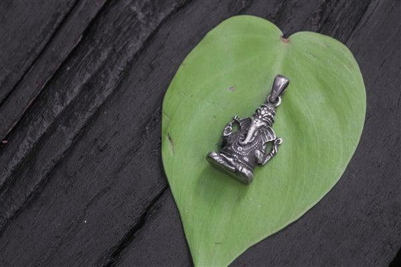 Handcrafted sterling silver Ganesha pendant