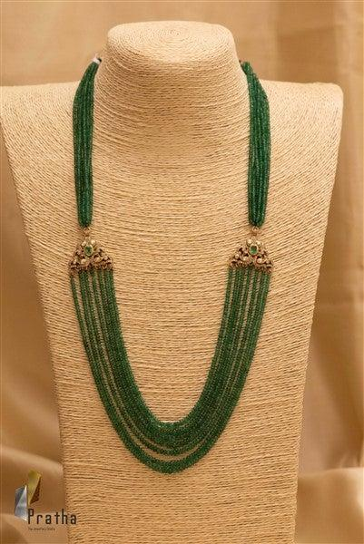 Chedias-Emerald layered Neck Piece