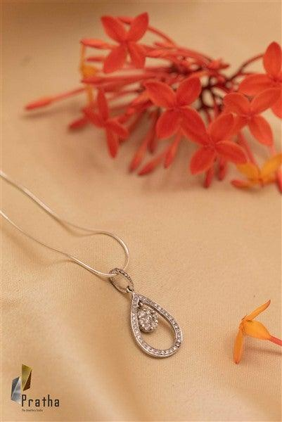 Drop Diamond Pendant With Chain