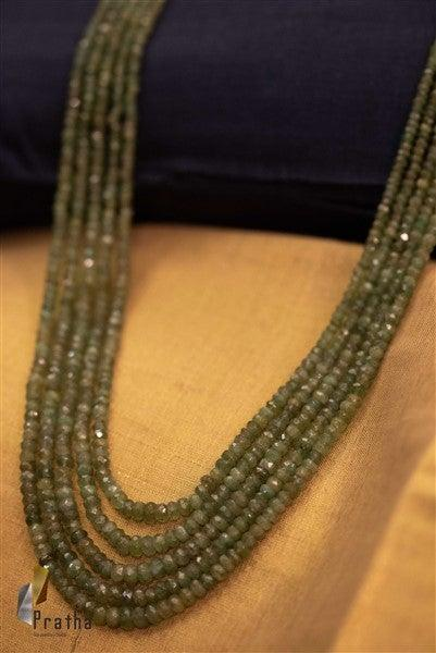 Faceted Emeralds 5 lines Mala