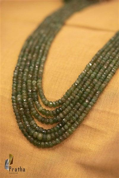 Faceted Emeralds Layered Mala