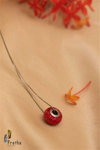 Red Ring Pendant With Chain