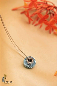 Blue Ring  Pendant With Chain