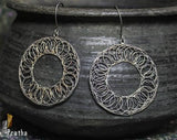 a delicate spiral earring handcrafted in sterling silver with easy to wear hooks.