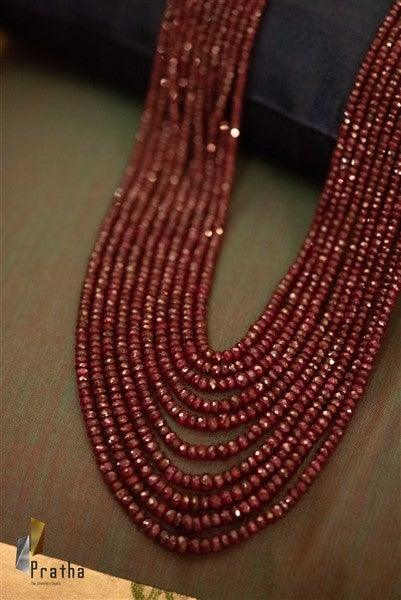 Faceted Ruby Layered Mala