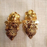 Flower Dual-tone with kundan earring
