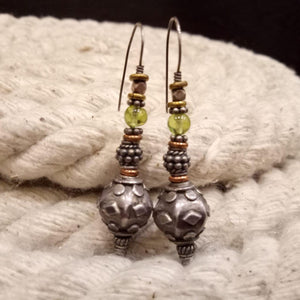 Sterling silver handcrafted hanging earring