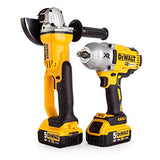 DEWALT XR Twin Pack XR Brushless High Torque Impact Wrench and Premium Angle Grinder (DCK269P2)