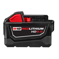 Milwaukee M18 B9 REDLITHIUM-ION Slide Battery Pack 18V 9.0Ah Li-Ion (TWIN PACK WITH CHARGER)