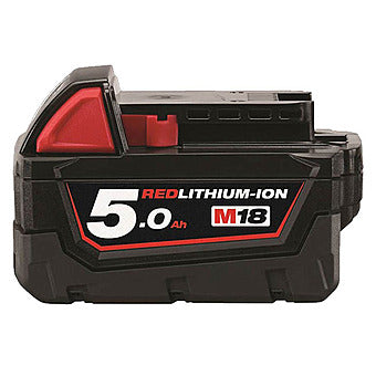 Milwaukee M18 B5 REDLITHIUM-ION Slide Battery Pack 18V 5.0Ah Li-Ion