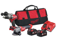 Milwaukee M18 FUEL Combi Drill & Grinder With 2 x 5.0Ah Batteries (M18ONEPP2M-502B)