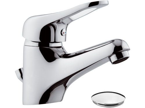 Remer Kiss Wash Basin Mixer With Pop_Up Waste (Made in Italy)