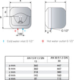 Ariston Electrical Water Heater - 15L