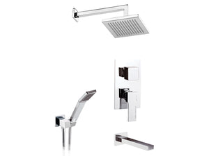 Remer Qubika Bath Mixer with Shower Set