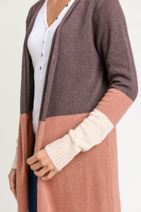 CELIA 3 Color Block Cardigan