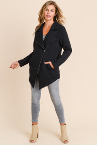 ZOE Long Moto Knit Jacket