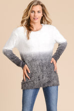 Load image into Gallery viewer, ROMY Dip Dye Fuzzy Sweater