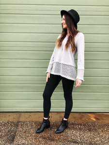 CLARA Lace Fringe Top
