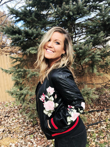 REBEL Floral Bomber Jacket