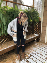 Load image into Gallery viewer, TEIGAN Oversized Striped Cardigan