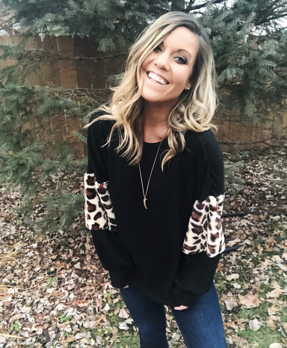 AUBREE Leopard Pullover