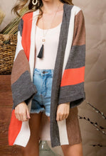 Load image into Gallery viewer, ARLO Oversized Multi Stripe Cardigan
