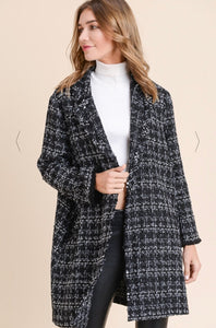 SOPHIE Tweed Open Jacket