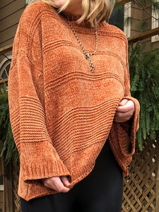 DUSK Chenille Wide Long Sleeve Sweater
