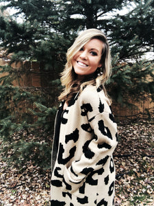 CARLY Leopard Cardigan
