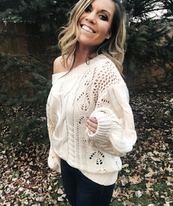 LAYLA Off The Shoulder Bubble Sleeve Top