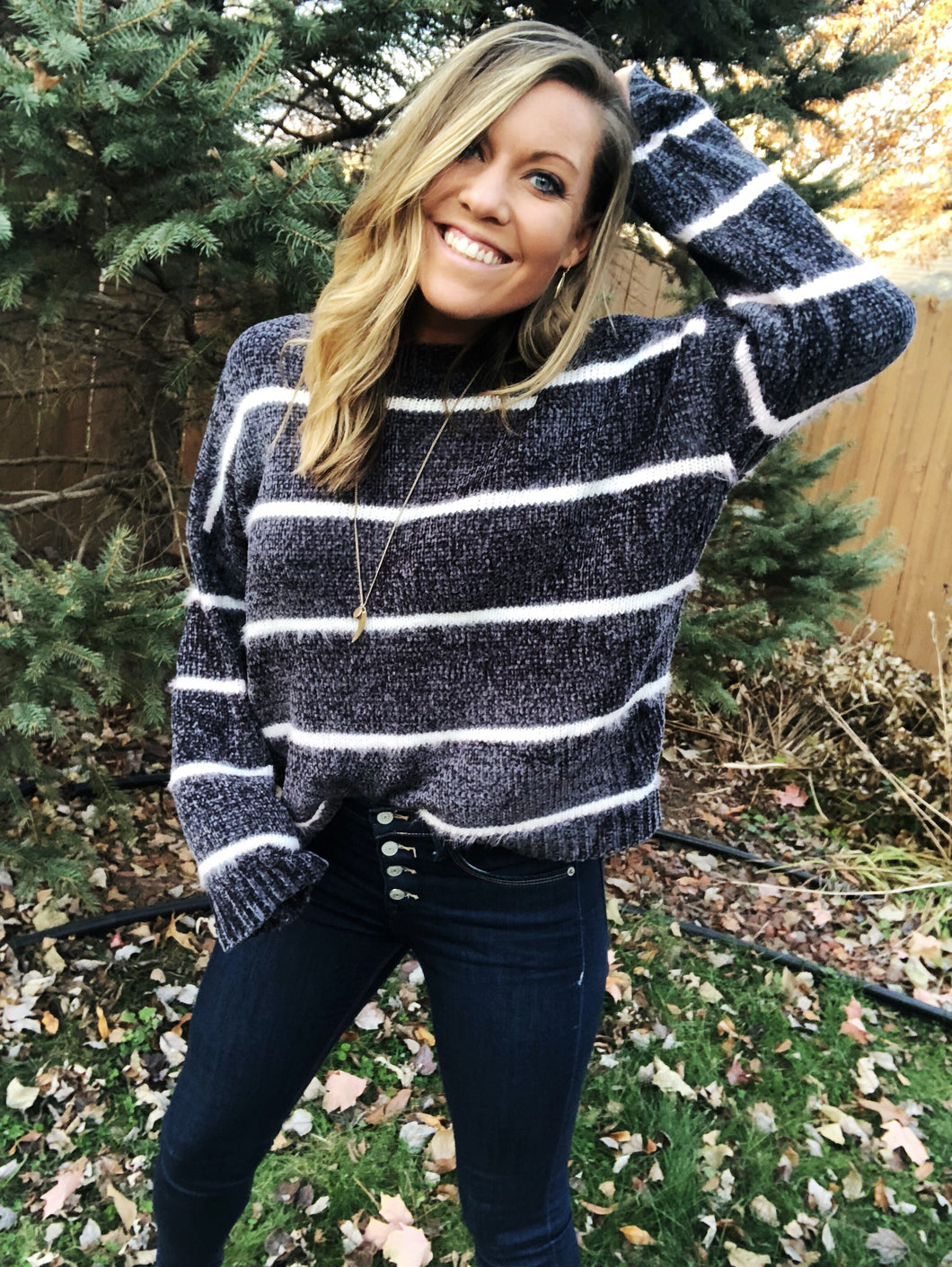 PEYTON Cozy Striped Sweater