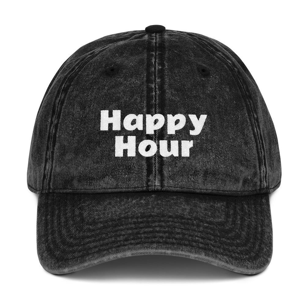 Happy Hour Vintage Denim Cap