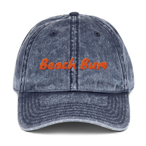 Beach Bum Vintage Denim Cap