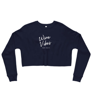 Wine Vibes Crop Sweatshirt
