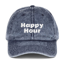Load image into Gallery viewer, Happy Hour Vintage Denim Cap