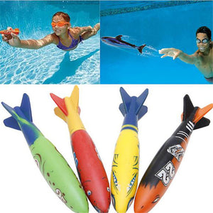 4Pcs Children Water Diving Swimming  Throwing Dabbling Shark Outdoor Beach Pool Water Play Game Sport 05