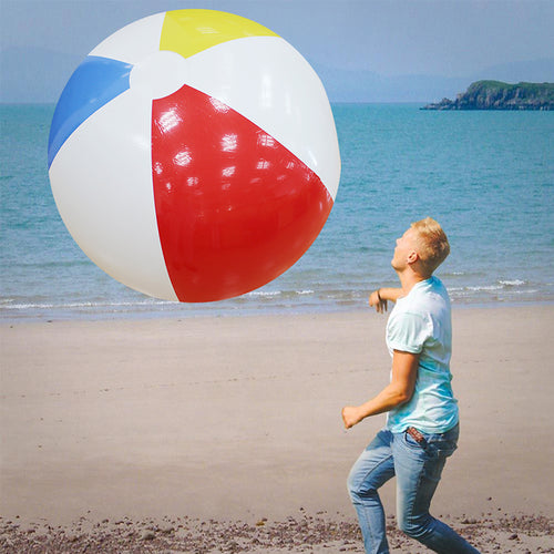 107CM 42inch Super Large Charm Colorful Inflatable Beach Ball Outdoor Play Games Balloon Giant Volleyball PVC Pool & Accessorie