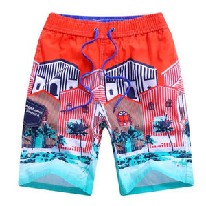 New 2018 Summer Boys Beach Shorts Fashion Children Board Shorts Kids Beach Surf Swimwear 7-15Yrs Cotton Beach Pants