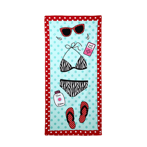 Square Beach Towel Sand Beach Flag Printed Beach Cover Up Bikini
