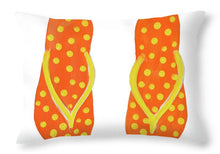 Load image into Gallery viewer, Polka Dot Flip Flops IIi Throw Pillow