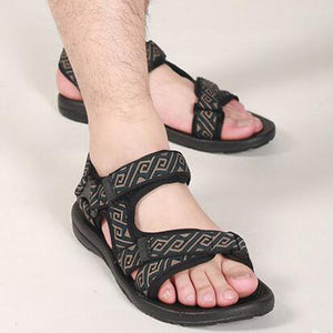 2018 summer gladiator men's beach sandals outdoor shoes Roman men casual shoe  flip flops large size 45 good quality