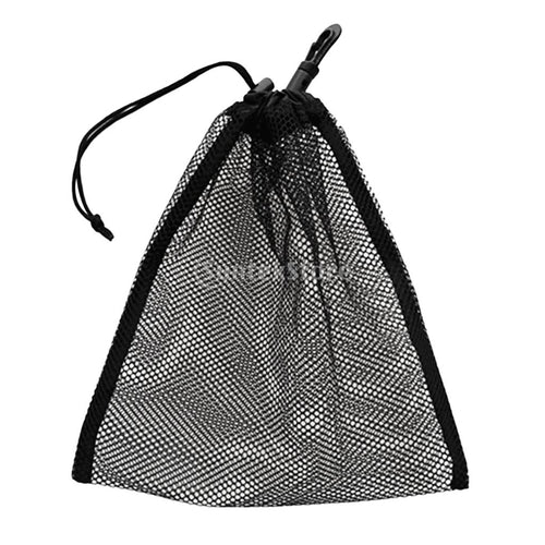 Multi Purpose 20x24cm Drawstring Mesh Gear Bag for Golf Tennis Balls/ Snorkel Dive Mask/ Surface Marker Scuba Diving Accessories