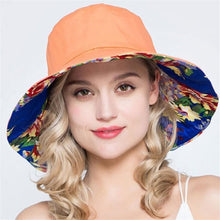 Load image into Gallery viewer, Xthree summer hats for women ladies large brim cotton Beach cap sun hat female England Style
