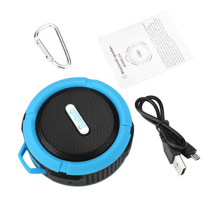 Outdoor Waterproof Bluetooth Stereo HandsFree Speaker with MIC TF Slot