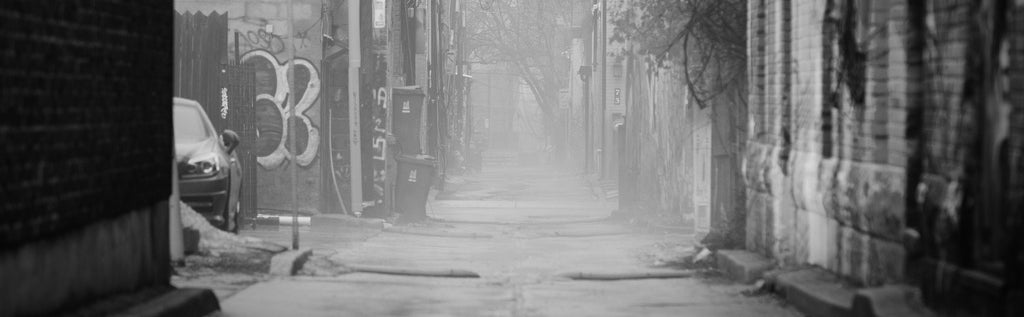 Foggy Urban Alley